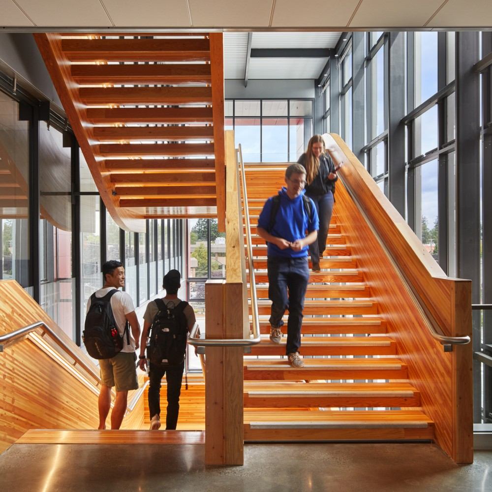 WSU Everett's Wood Stair Featured in Think Wood